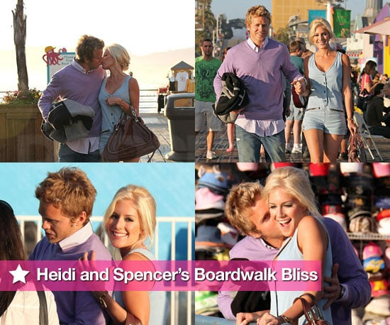 Photos of Heidi Montag and Spencer Pratt Filming The Hills at Santa Monica Pier