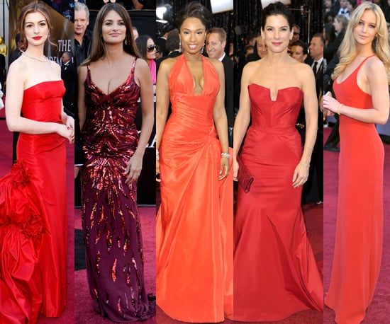 2011 Oscars: Red Gowns a Red Carpet Trend