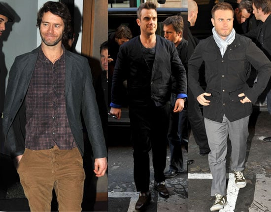 Pictures of Take That in France Promoting Progress