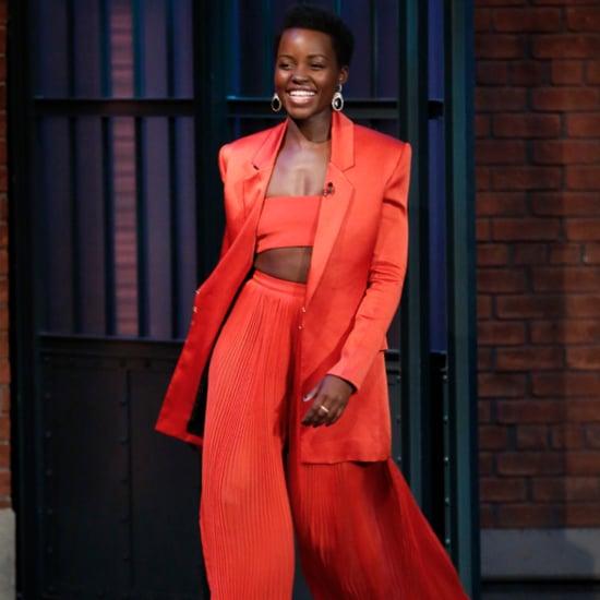 Lupita Nyong'o Wears Balmain Pants and Crop Top