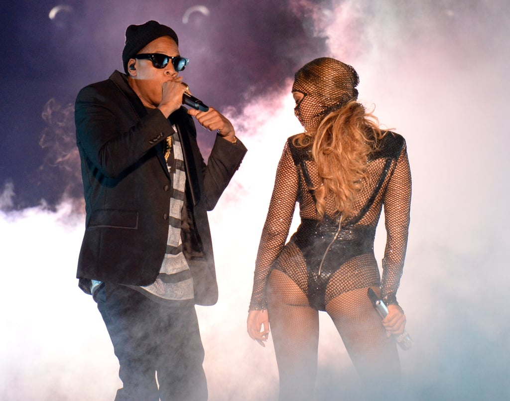 Beyoncé and Jay Z kicked off their On the Run tour in Miami on Wednesday with a supersexy show.