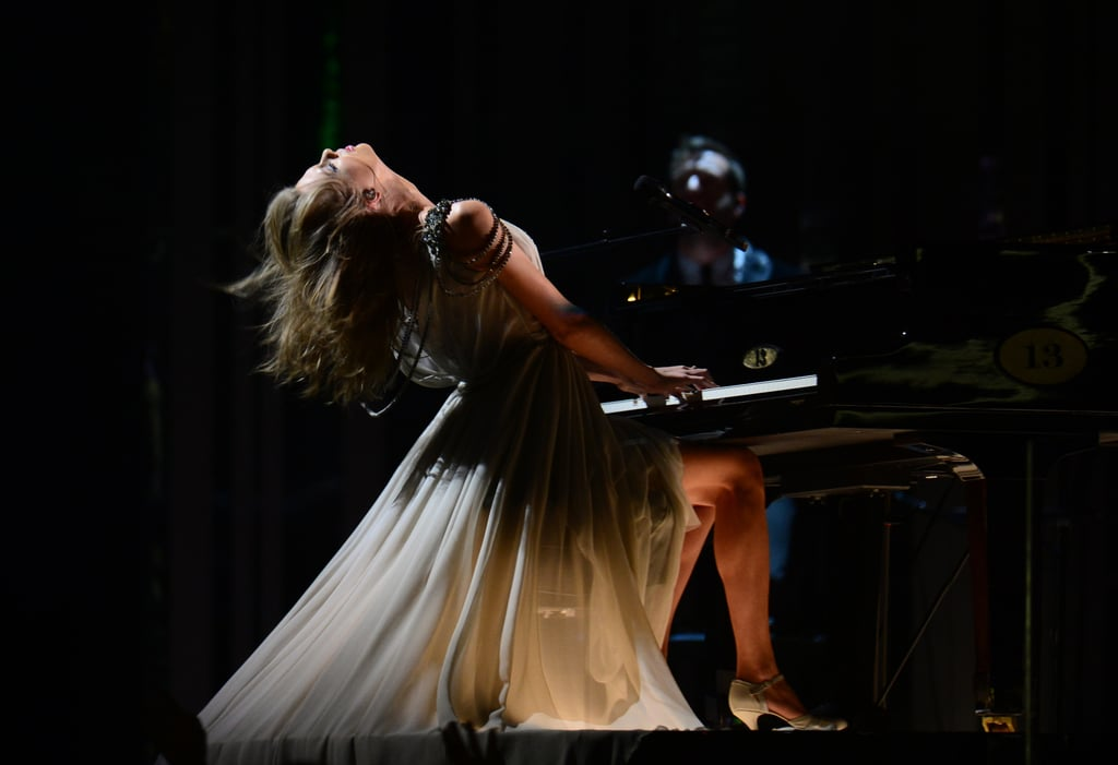 "Taylor Swift headbanged during her performance of ""All Too Well."""