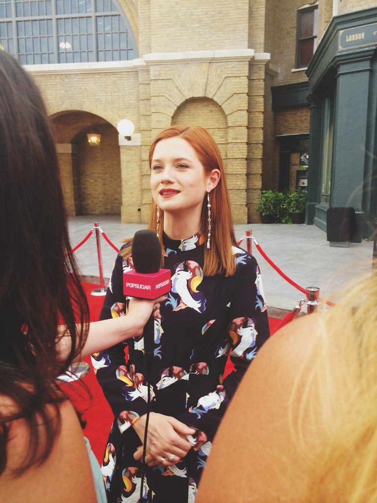 I interviewed Bonnie Wright aka Ginny Weasley on the red carpet.