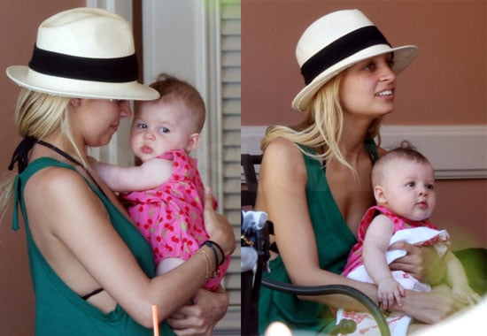 Images of Nicole Richie and baby Harlow