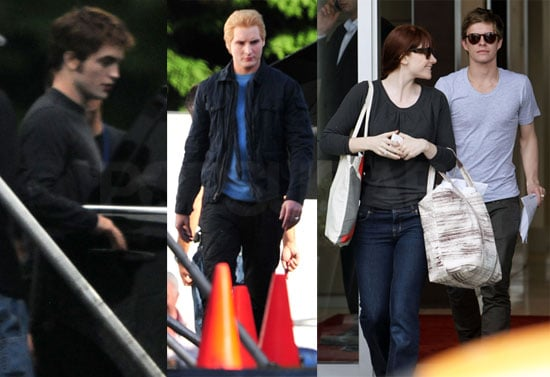 Photos of Peter Facinelli, Bryce Dallas Howard, Robert Pattinson, Ashley Greene Filming Eclipse