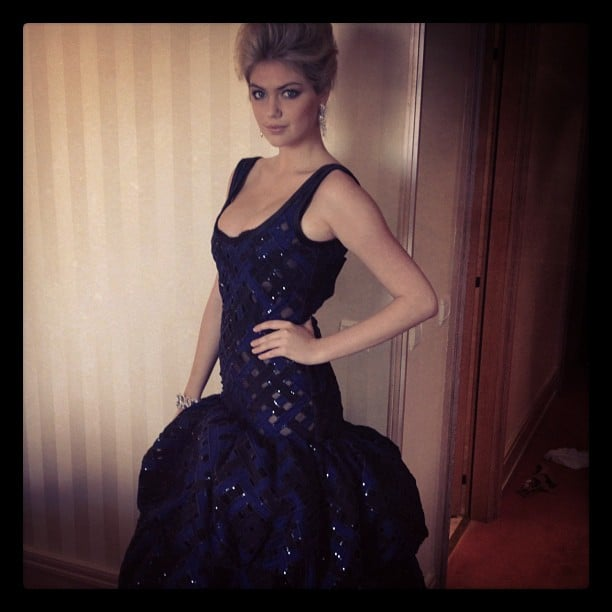 Kate Upton took a photo in her Louis Vuitton gown before heading to the amfAR Gala in Cannes.  Source: Instagram user maybekateupton