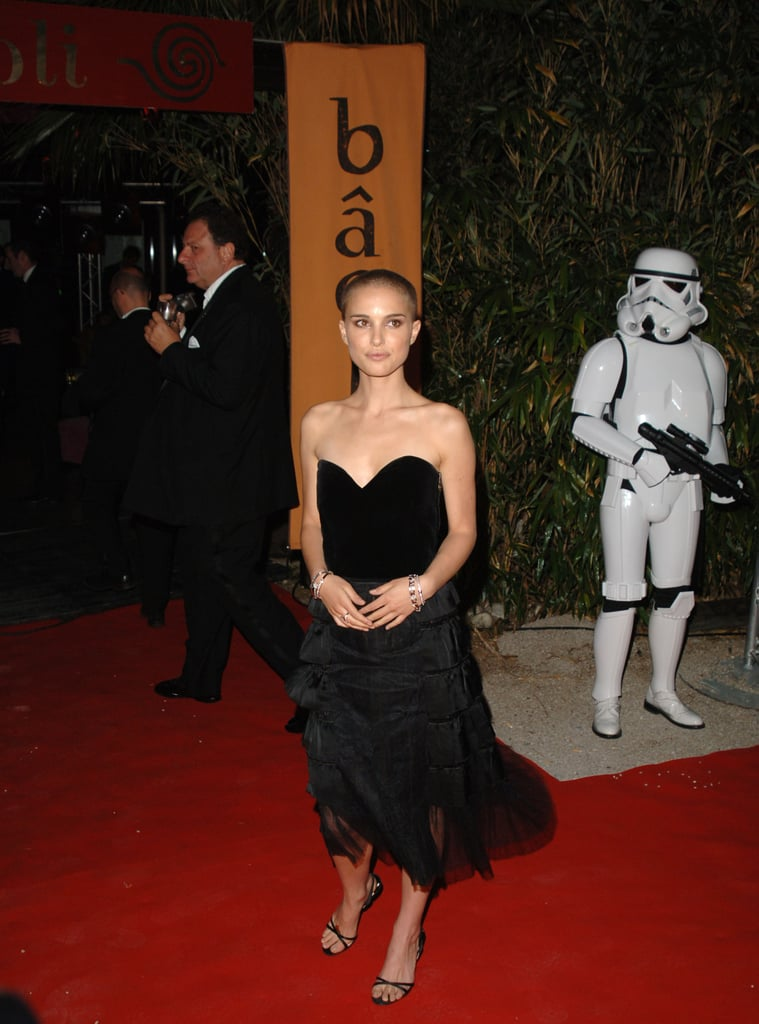 Natalie Portman in a Strapless Black Dress at the 2005 Cannes Film Festival
