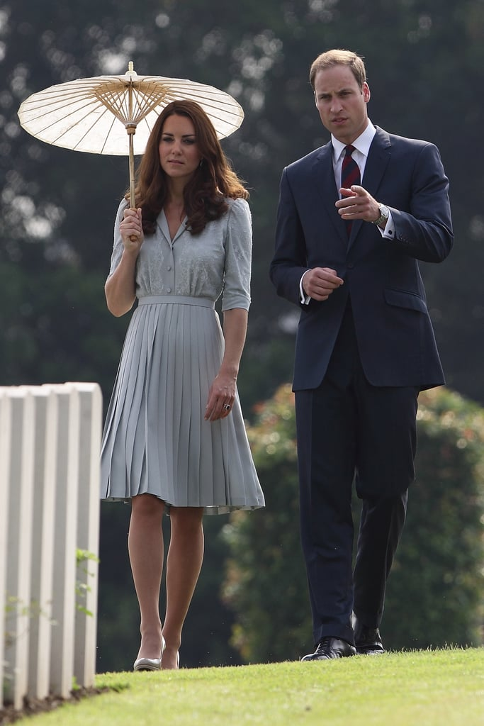 In September 2012, Kate Middleton and Prince William visited the Kranji Commonwealth War Cemetery in Singapore during their Asia tour.