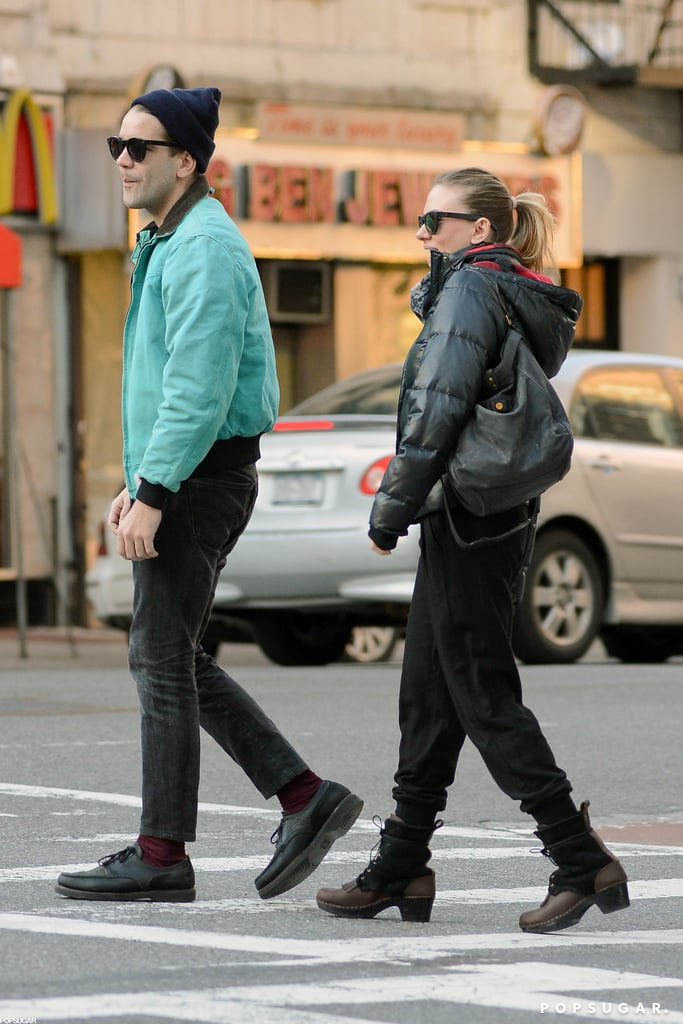 Scarlett Johansson Steps Out With Her Boyfriend —and a Diamond Ring