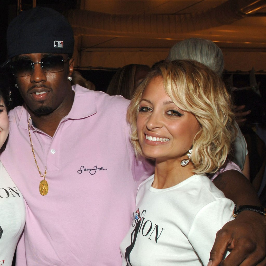 Diddy shared a hug with Nicole Richie during a September 2006 NYC Fashion Week charity event.