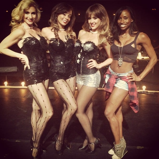 Jessica Alba struck a sexy pose with her castmates while shooting a dancing scene for her latest film, Dear Eleanor. Source: Instagram user jessicaalba