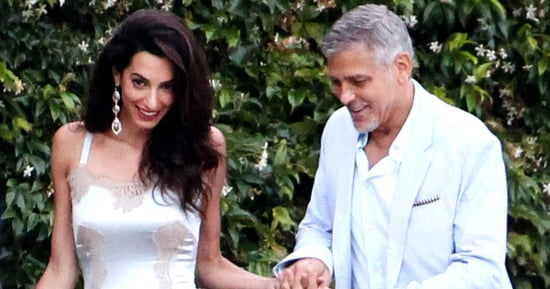 Amal Clooney Spices Up Her Wardrobes With a Lingerie-Inspired Dress
