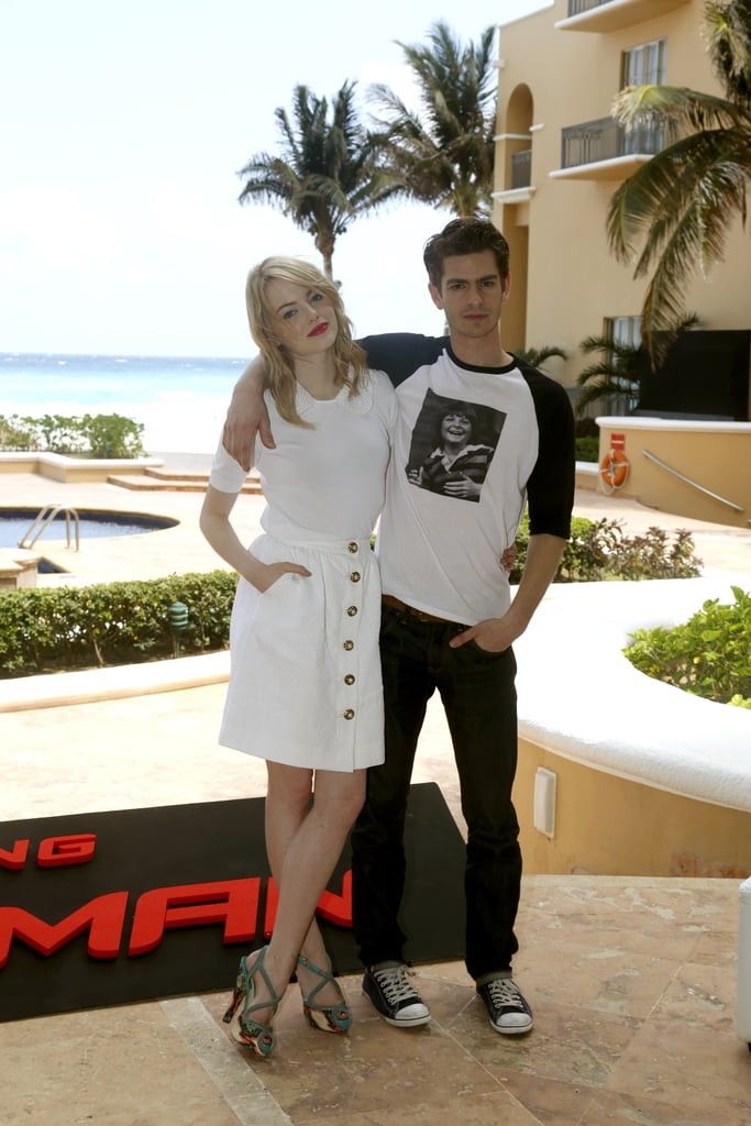 She kept it light in an all-white Dolce & Gabbana ensemble at a photocall in Cancún, Mexico, in April 2012. The dynamic was in the outfit's details — look to the embellished Peter Pan collar, button-down skirt, and quirky Brian Atwood sandals for proof.
