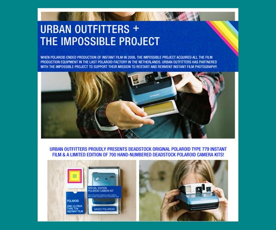 Urban Outfitters Gets Old Polaroid Stock