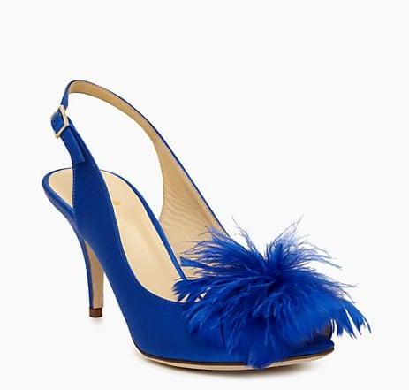 Kate Spade New York Sema Blue Feather Sling-Back Heels ($129, originally $328)
