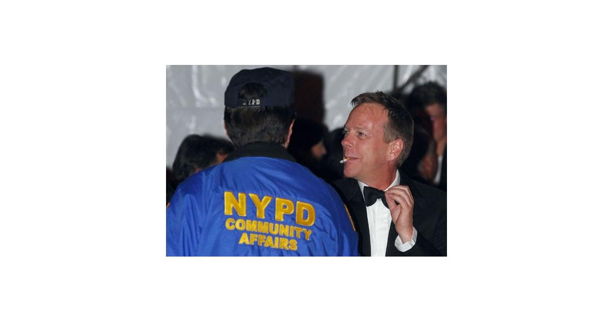 Kiefer Sutherland headbutts' designer