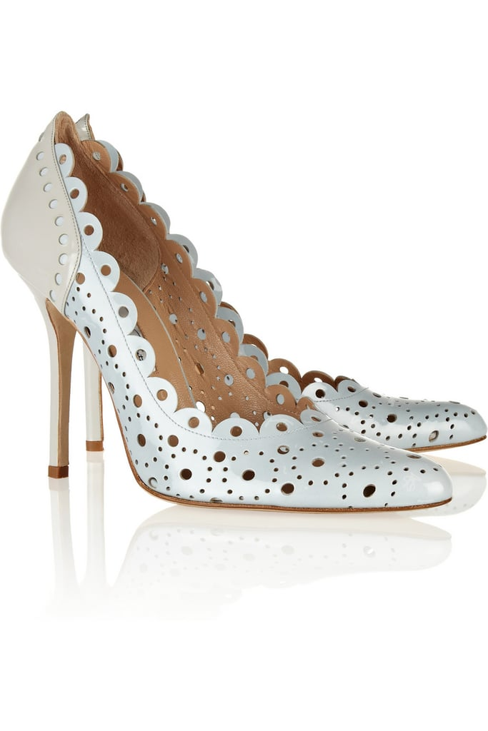 We've loved Oscar de la Renta's scalloped heels ($338, originally $675) since we first spotted the original incarnation on the runway. Now's your chance to get a pair!
