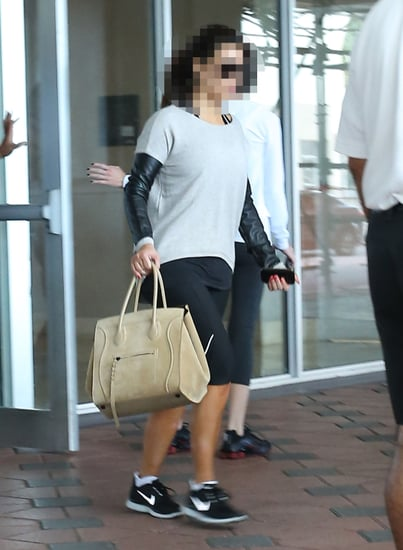 Guess Which Famous Sister Is Leaving the Gym?