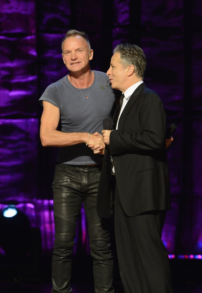 Sting and Jon Stewart attended the Night of To Many Stars benefit in NYC.