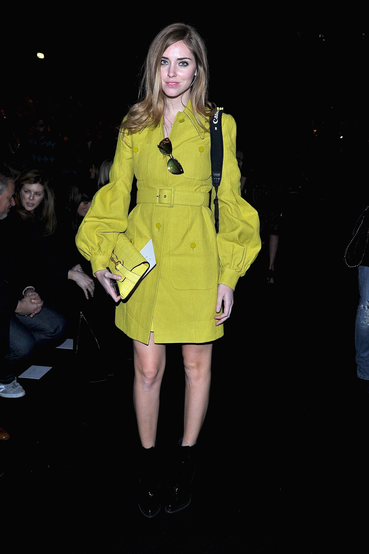 Chiara Ferragni wore Gucci at the Alberta Ferretti Fall 2013 show in Milan.