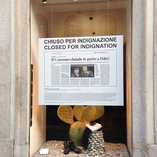 Dolce & Gabbana Close Milan Stores in Protest