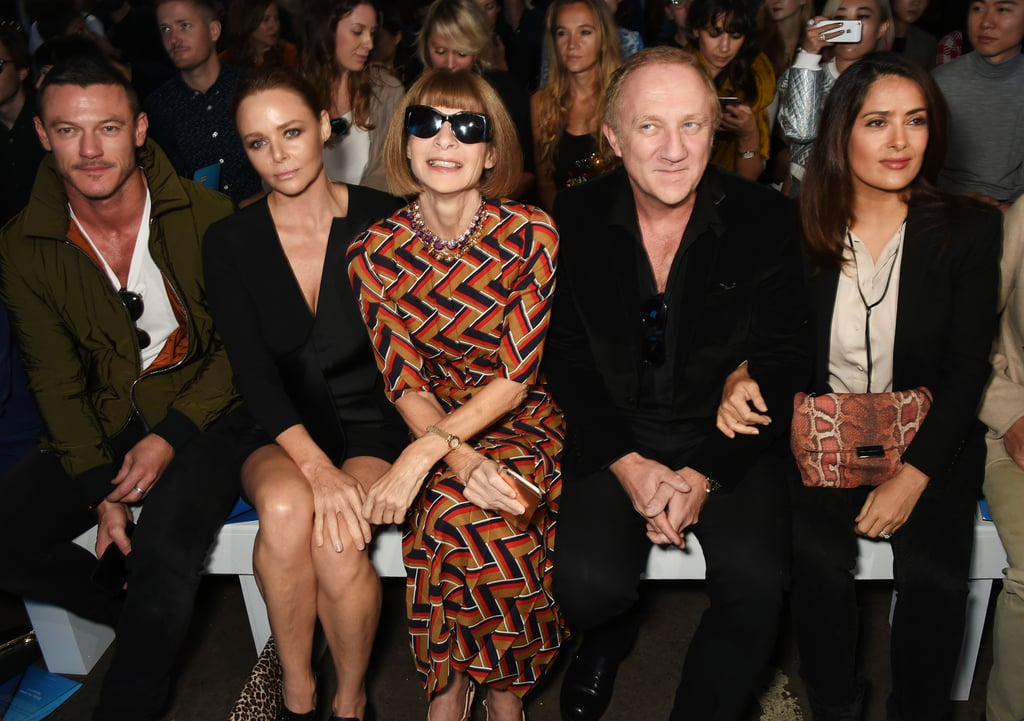 Luke Evans, Stella McCartney, Francois Henri Pinault, and Salma Hayek