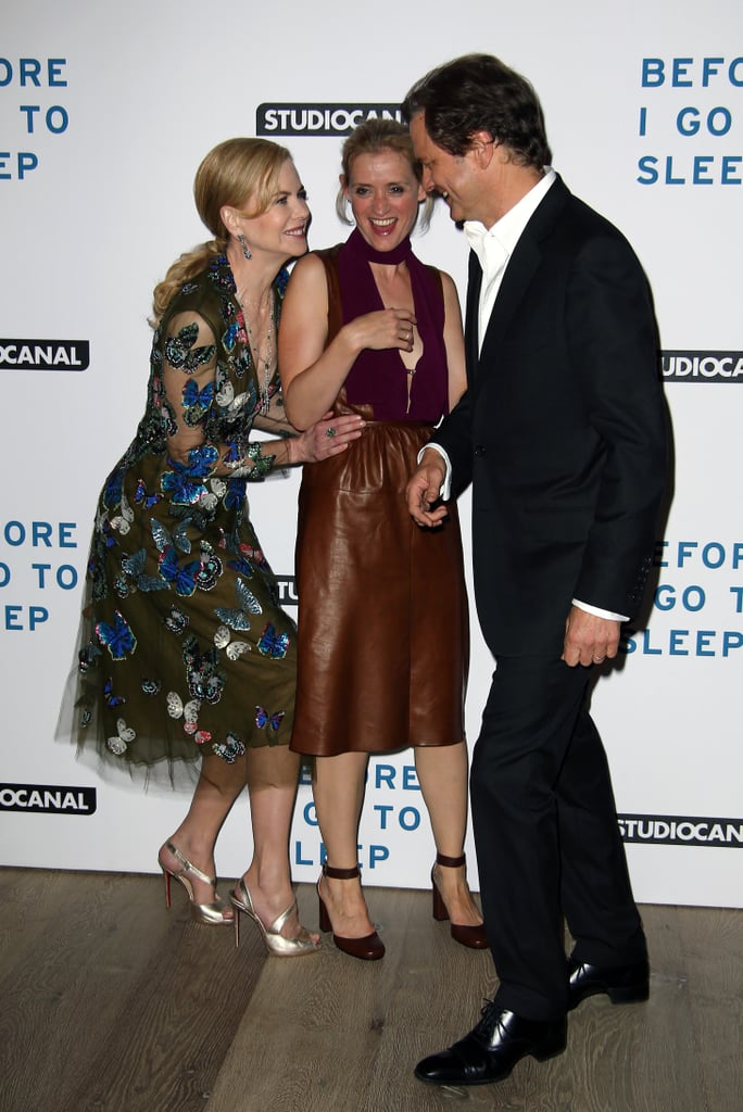 On Thursday, Nicole Kidman got silly with Anne-Marie Duff and Colin Firth at their screening of Before I Go to Sleep in London.