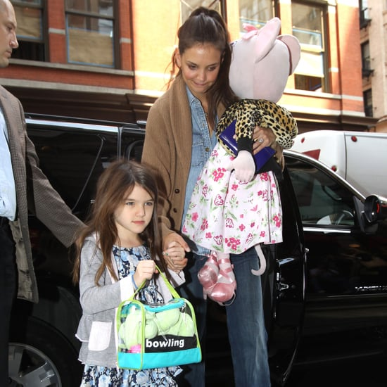 Katie Holmes and Suri Cruise Leaving NYC Home