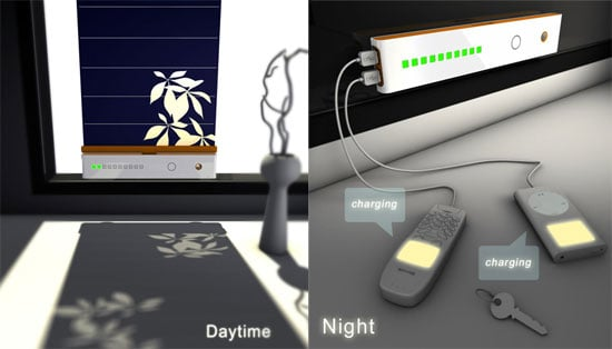 Some Shine Solar Charger Charges Your Gadgets With a Curtain and the Sun