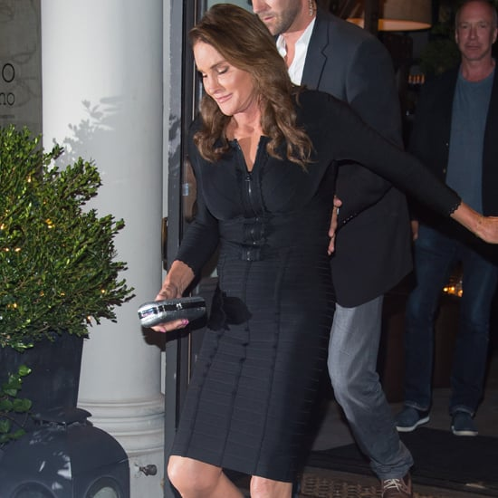 Caitlyn Jenner Wearing a Black Herve Leger Dress