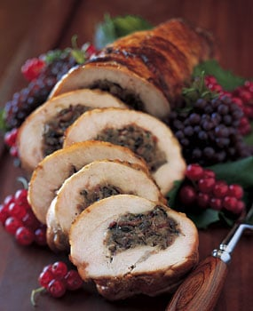 Sunday Dinner: Turkey Breast Roulade with Mushrooms and Pancetta