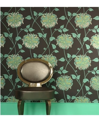 Tempting Turquoise Wallpaper ($40)