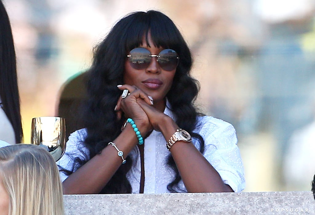 Naomi Campbell checked out the games from her box seats.