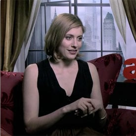 Greta Gerwig Talks About Love Scenes With Russell Brand in Arthur