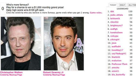 Play Celebrity Faceoff, Win $1000! (Yup, $1000!)