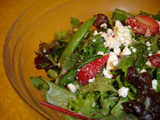 A Snappy Summer Side: Strawberry Mint Salad