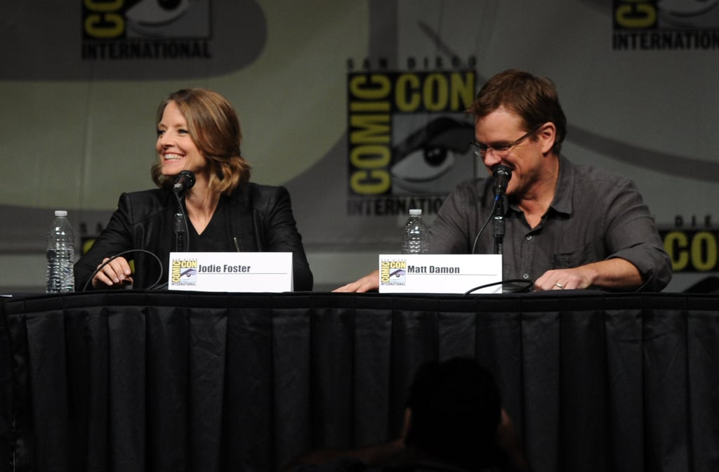 Jodie Foster and Matt Damon at Sony Pictures' panel.
