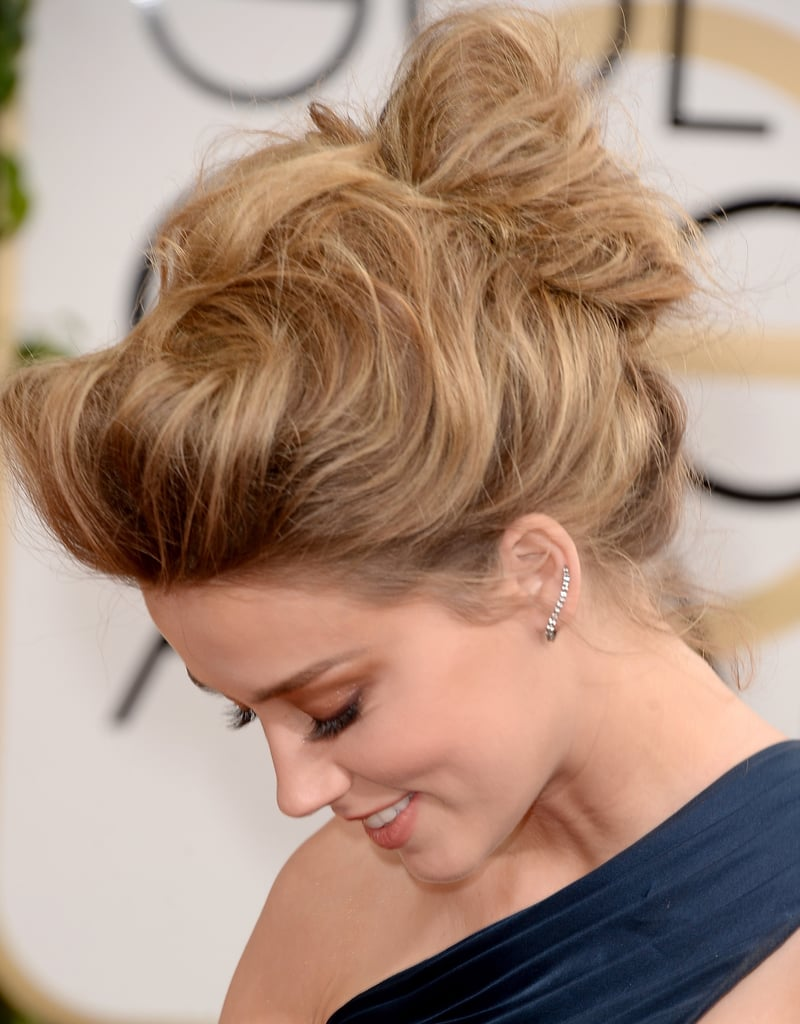 Amber Heard at the Golden Globe Awards