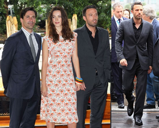 Pictures of Ben Affleck, Rebecca Hall, Jeremy Renner, and Jon Hamm Promoting The Town in Venice 2010-09-08 08:45:00