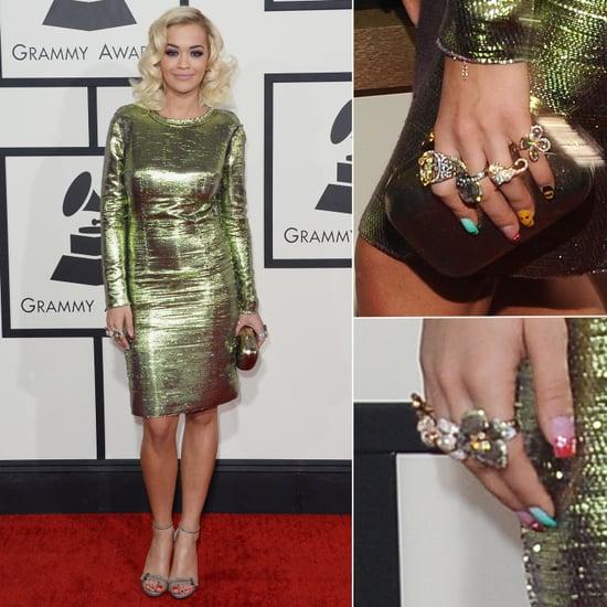 2014 Grammy Awards Style: Rita Ora in Lanvin