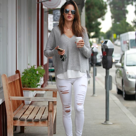 Alessandra Ambrosio Wears the Perfect Weekend Outfit