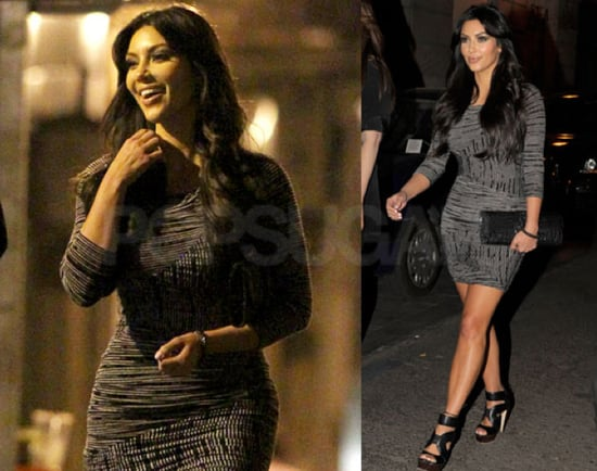 Pictures of Kim Kardashian After Dinner in Madrid