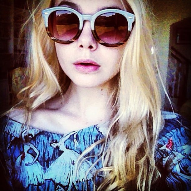 Elle Fanning showed off a new pair of shades. Source: Instagram user efanning