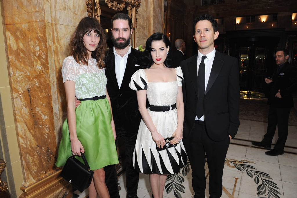 Alexa Chung, Jack Guinness, and Dita Von Teese were out in London.