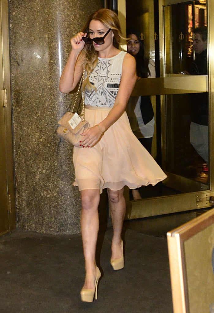 Lauren Conrad stepped out in NYC.