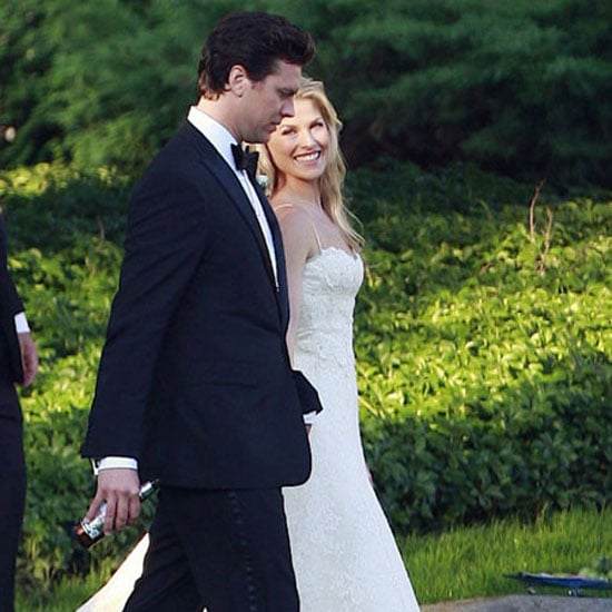 Ali Larter and Hayes MacArthur got married in Maine in August 2009. The bride wore a silk organza and lace Vera Wang design with spaghetti straps and a mermaid skirt.