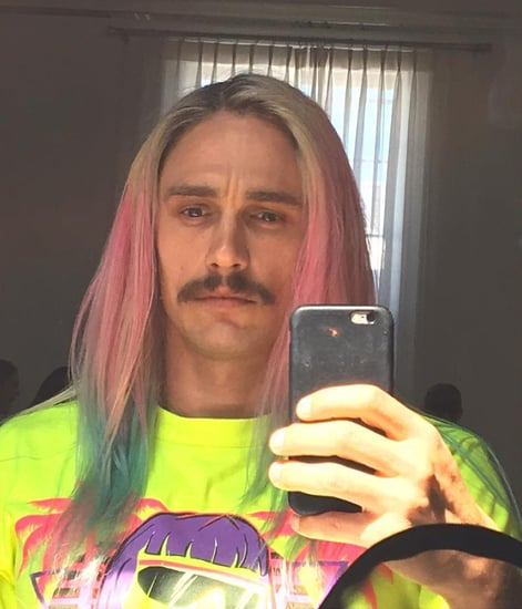 James Franco Channels Rapper Riff Raff with His New Rainbow Ombré Hair