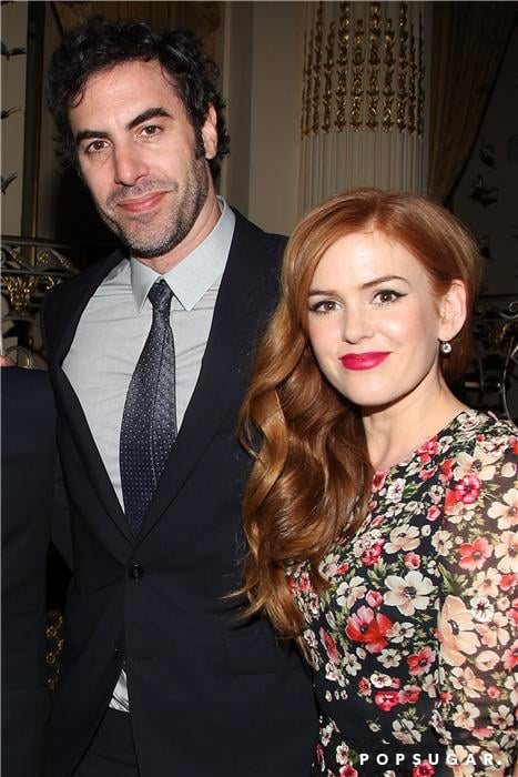 Isla Fisher was joined by her husband, Sacha Baron Cohen.