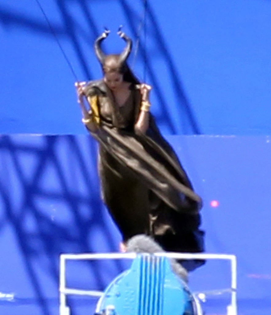 Angelina Jolie worked on Maleficent in England.
