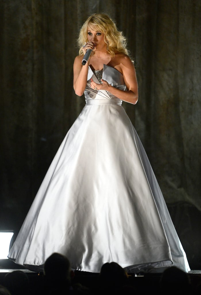 Carrie Underwood was one of the many performers at Sunday night's Grammy Awards in LA.